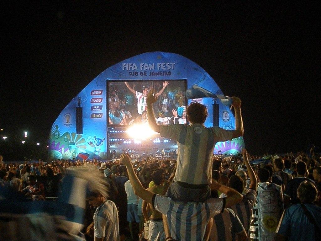 Argentina Bosnia FIFA Fan Fest Rio de Janeiro