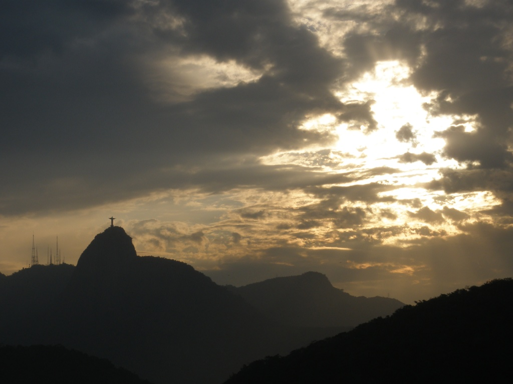 Cristo Redentor seen from Forte do Leme
