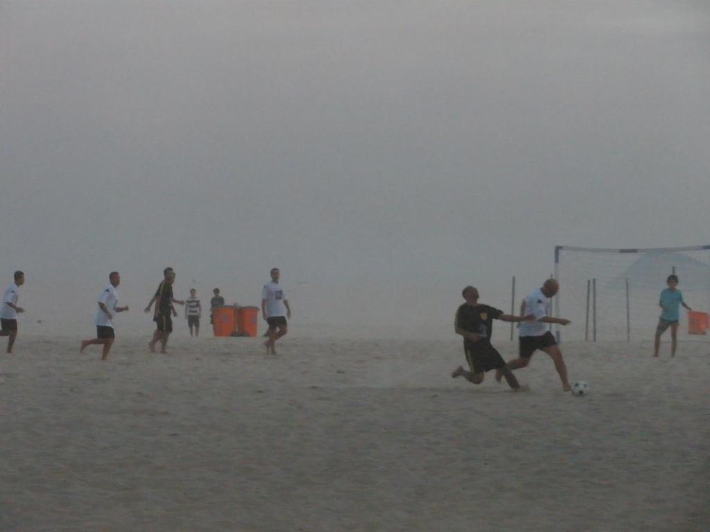 Copacabana beach football